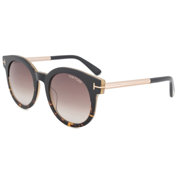abd80909ffb30 Tom Ford Janina Sunglasses Black Havana